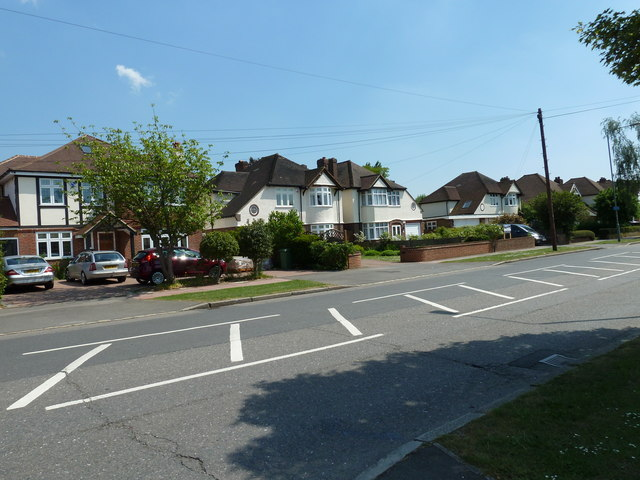 Road markings in Blackbrook Lane