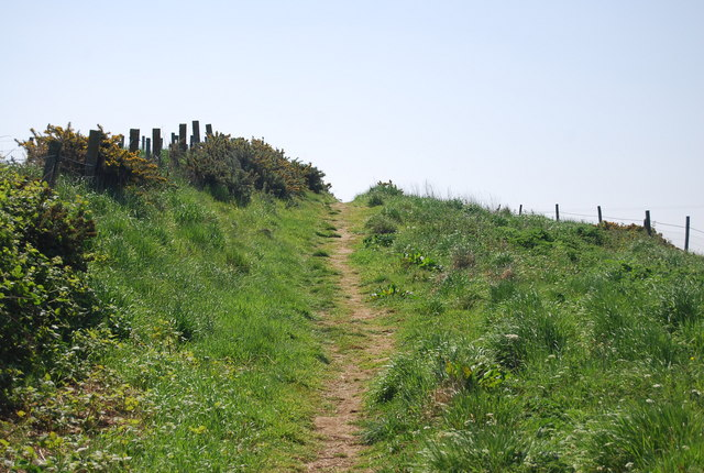 Footpath by Thornwick Holiday Park