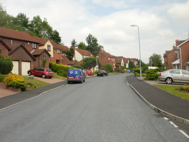 Northern section of Wentwood Road, Caerleon