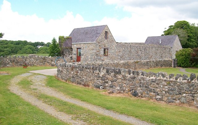 Traditional farm buildings converted into Holiday Accommodation at Fferm Aberkin