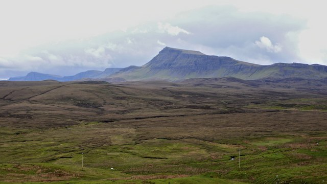 Dun Dubh Druim from the road to Uig