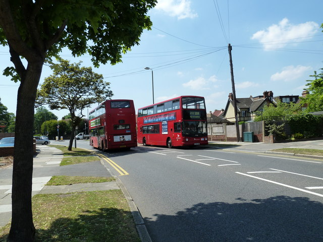 Buses passing in Southborough Lane