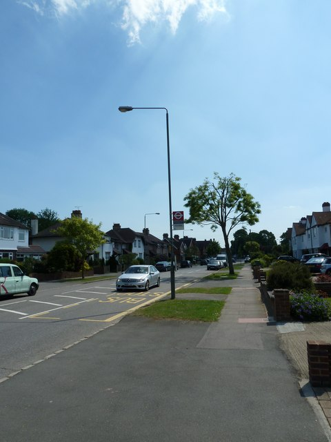 Bus stop at the southern end of Backbrook Lane