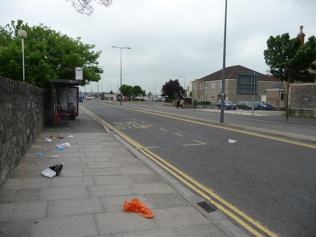 Weston-Super-Mare : Station Road & Bus Stop