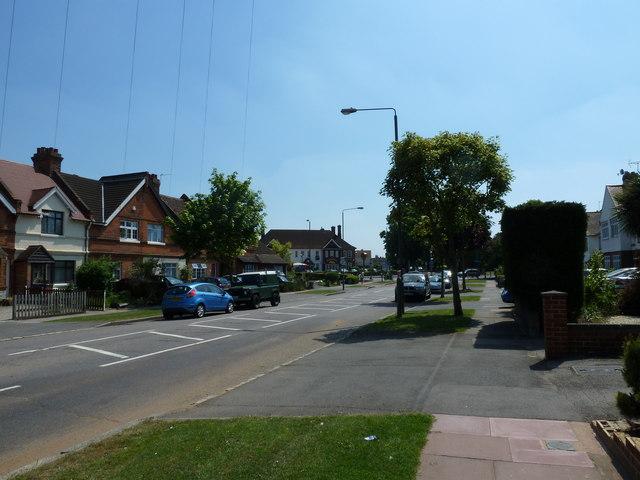 Southern end of Backbrook Lane