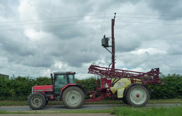 Tractor and Sprayer