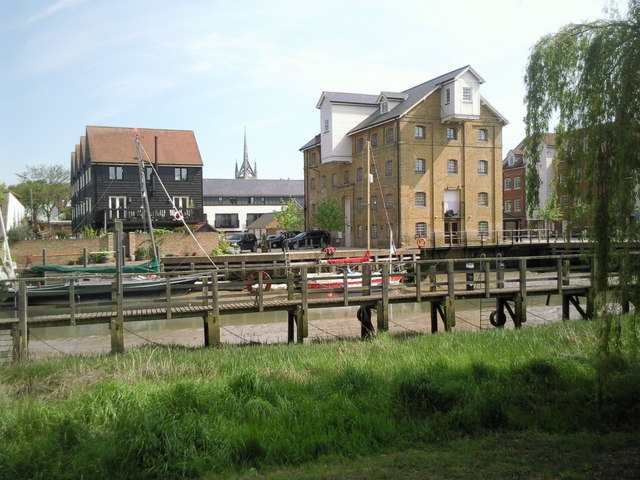 Looking across Faversham Creek from Front Brents