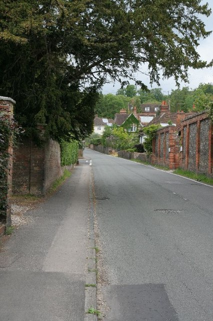 Looking towards the hill