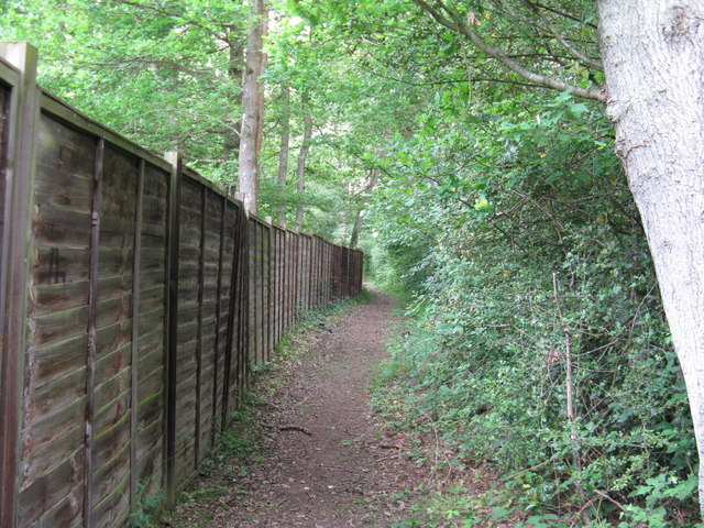 Footpath alongside perimeter fence at Mesylls