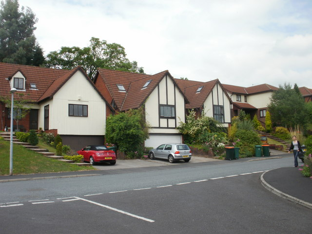 Northeast section of Wentwood Road, Caerleon