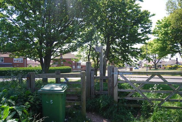 Kissing gate on the edge of Flamborough