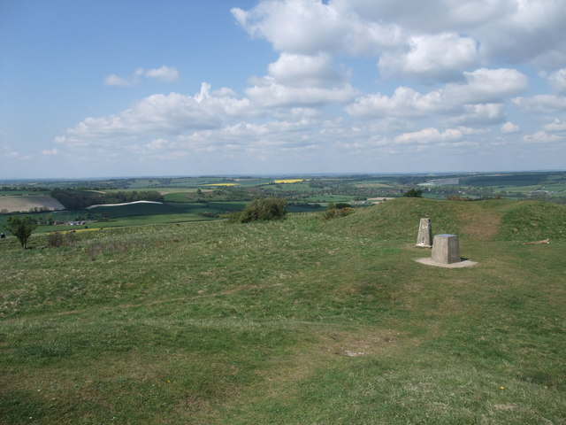 Toposcope and trig point, Old Winchester Hill