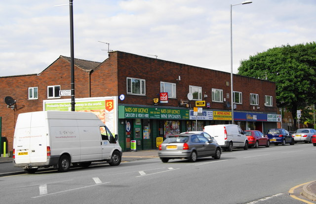 Row of shops on Ashton New Road