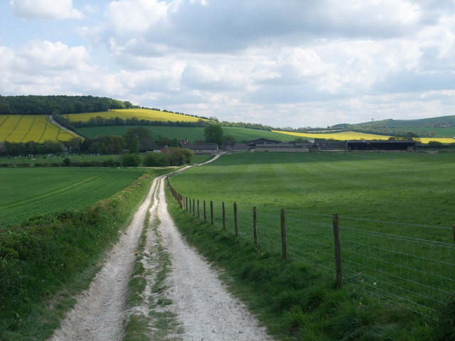 South Downs Way to Whitewool Farm
