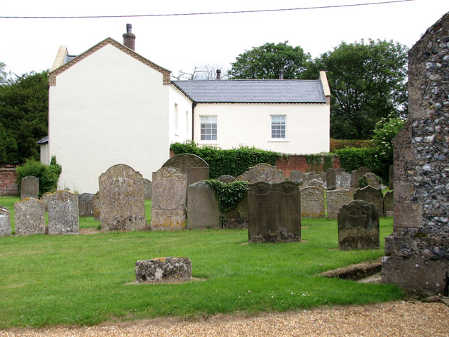 St Andrew's church in Holme Hale - churchyard
