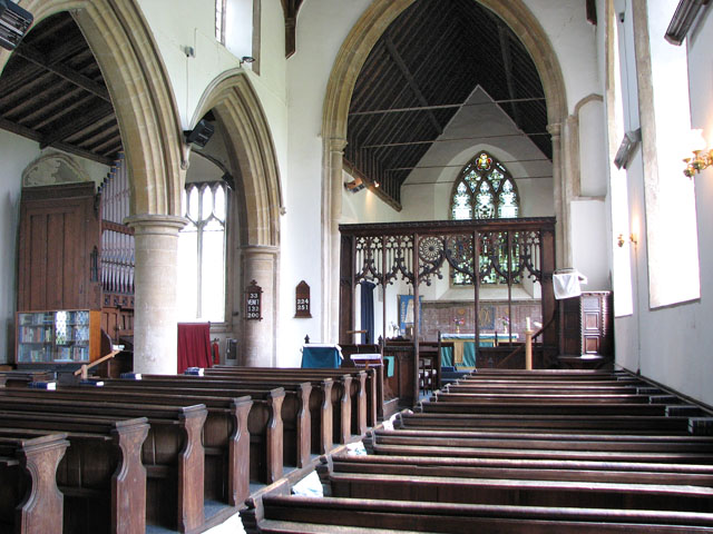 St Andrew's church in Holme Hale - view east
