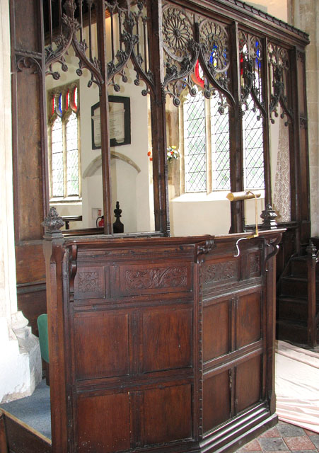 St Andrew's church in Holme Hale - reading desk