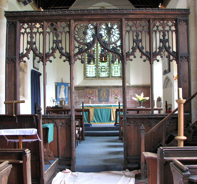 St Andrew's church in Holme Hale - C15 rood screen