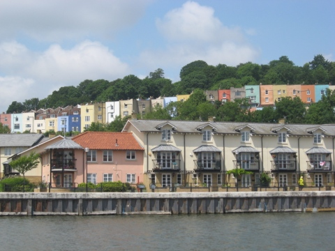 Hotwells-Colourful Terraces from the Floating Harbour