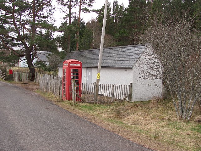 Telephone box and exchange, Altnaharra