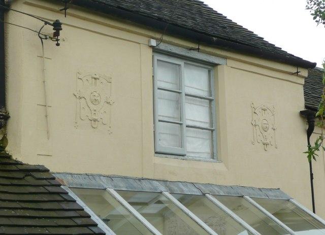 Decorative plasterwork, Croft Farm, Hanbury