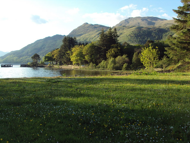 Meadow and Lochside at the Rowardennan Hotel