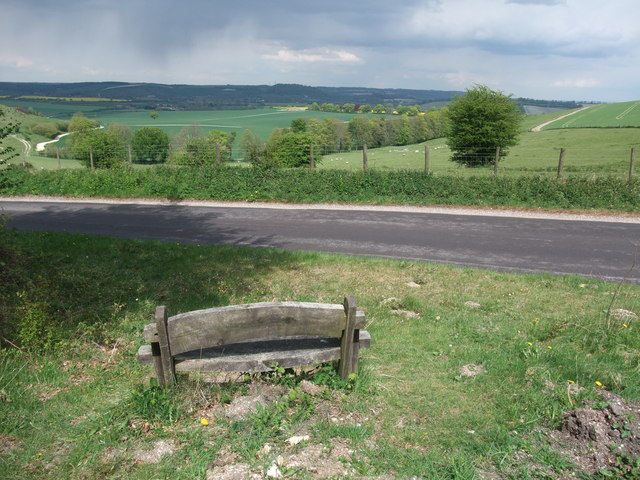 Seat with a view at Hyden Cross