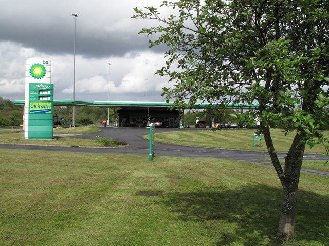 BP Filling Station at Hamilton Services