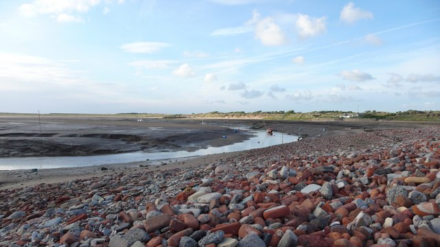 Rubble bank at Hightown