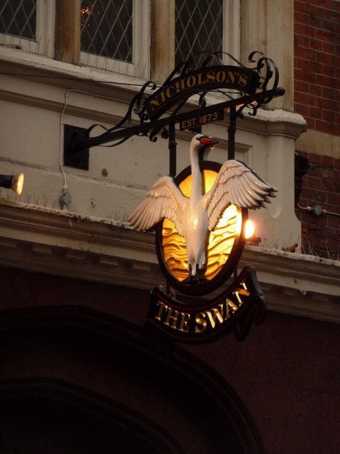 Hammersmith: The Swan pub sign