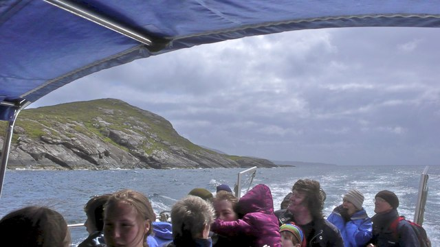 Rubha Buidhe (headland) from the Elgol/Coruisk ferry