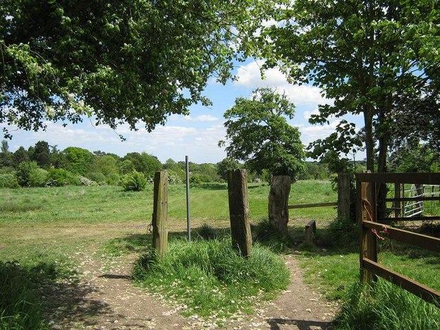 Junction of footpaths, Peterbrook