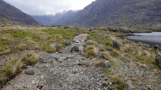 Footpath along the southern shore of Loch Coruisk