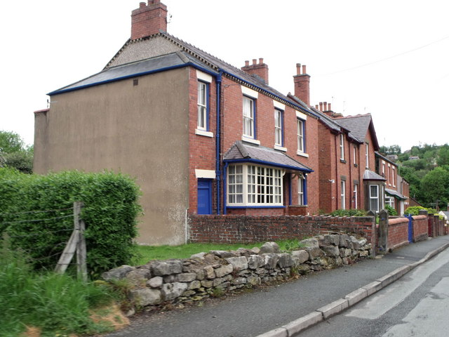 Row of houses at Cefn Mawr, Denbighshire