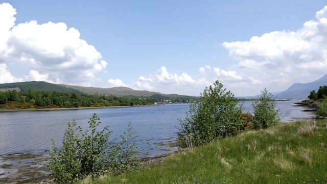 View down Loch Eil from The Narrows