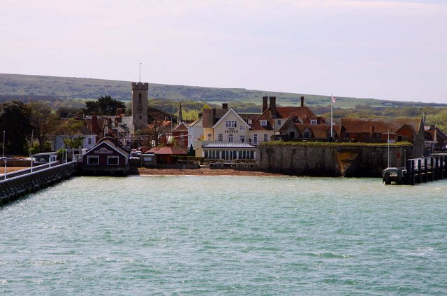 Yarmouth from the IOW ferry