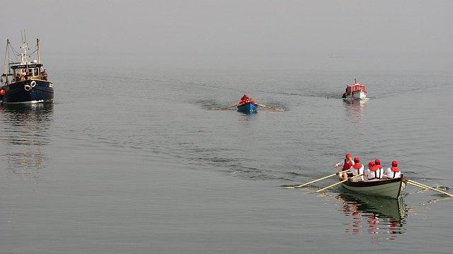 Skiff racing,  off Port Seton Harbour