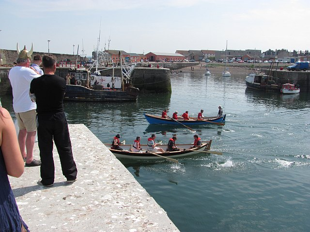Skiff racing, Port Seton Harbour