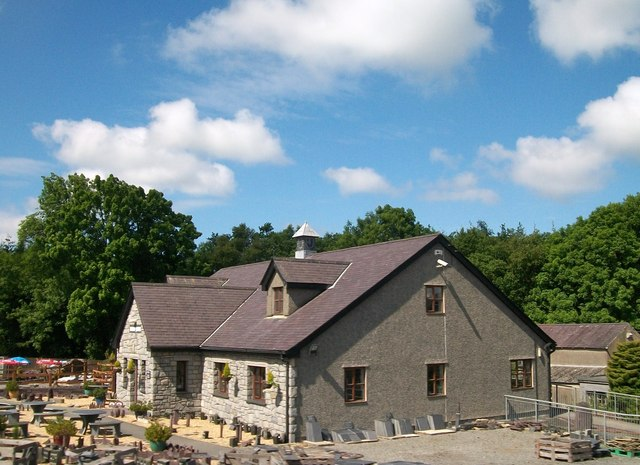 The main building at Inigo Jones' Slate Works, Groeslon