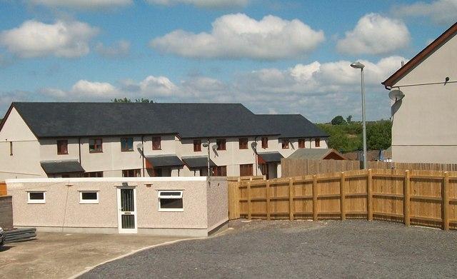 A new housing estate at Llanllyfni