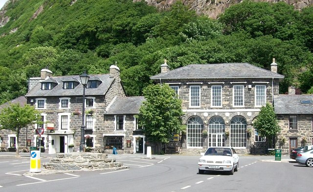 The Town Hall and Royal Madoc Arms on the Square at Tremadog