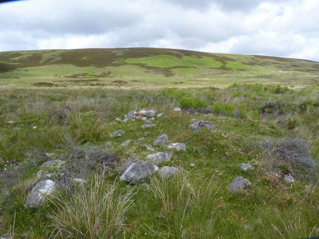 Beinn Chùrlaich and ruin, Islay