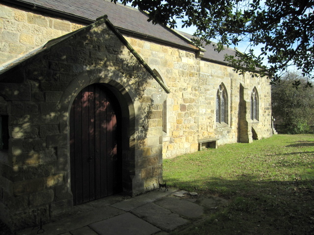 St John the Baptist, Cayton - porch and south side