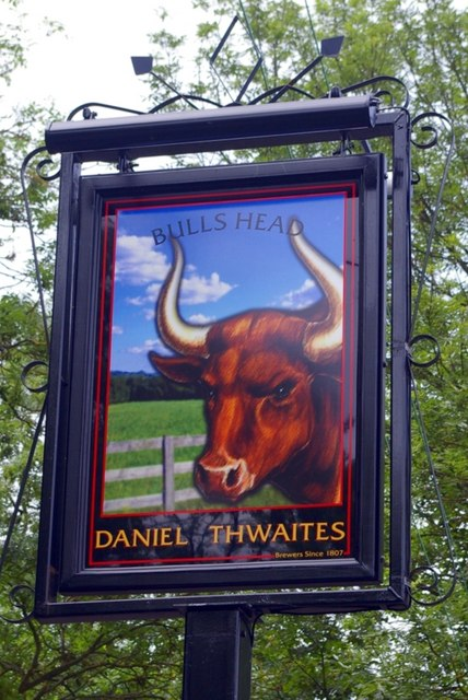 Pub sign for the Bull's Head