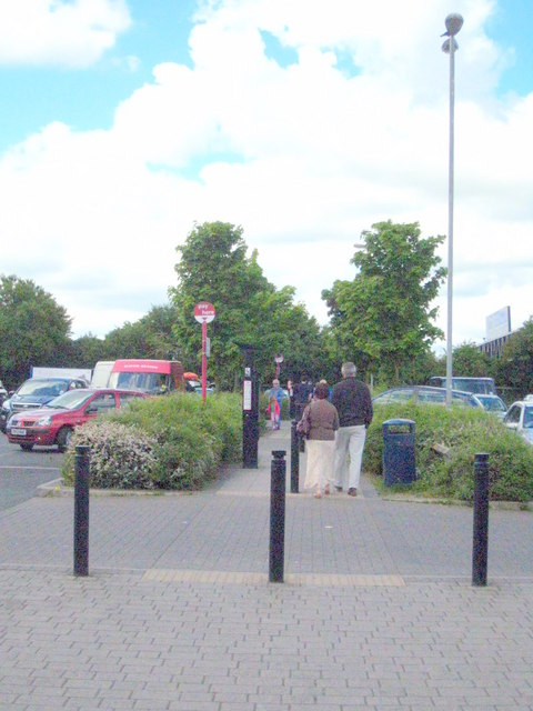 Car park at Strensham Services on the M5 southbound