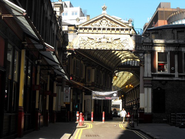 Leadenhall Market EC3, eastern entrance
