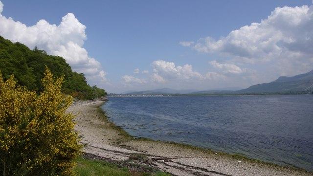 Eastern shore of Loch Linnhe looking towards Caol
