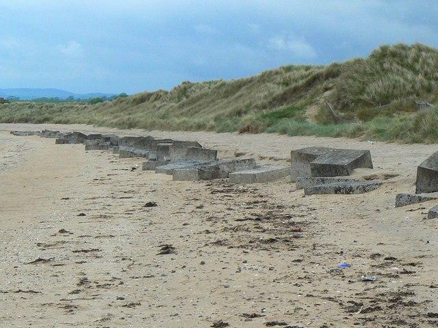 Blocks on the beach