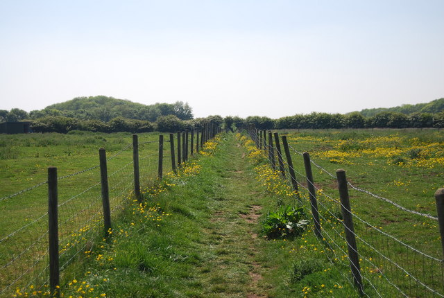 Footpath SW from Flamborough