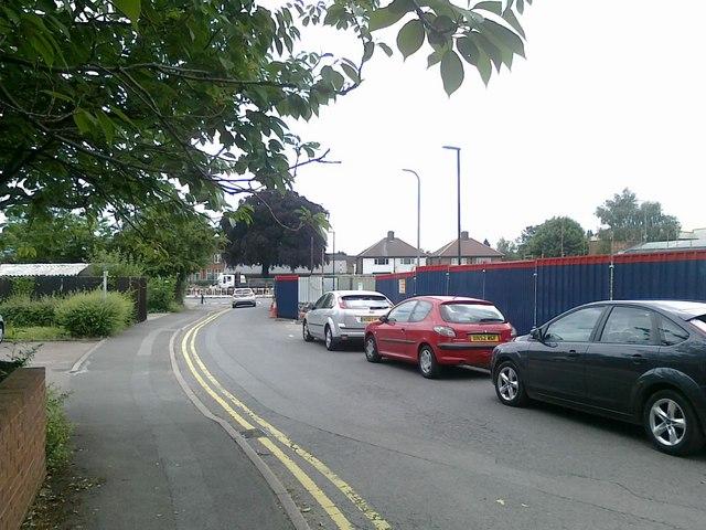 Cars parked on Union Street, Beeston